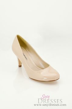 Nude 'Kayson' Patent Leather Mid-Low Heel Pumps  http://socialmediabar.com/get-started-right-now $17