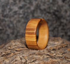 Olive Wood Ring Size 8 Wood Ring by OliveWoodJewellery on Etsy, $18.00
