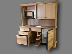 Our innovative Mini-Kitchen Armoires conceal complete unit kitchens within exquisite pieces of furniture that can be styled to blend with any room's décor. Kitchen Armoire, Kitchen Words, Mini Kitchen, Toyota, Basement, Kitchen Design, Lord, Room Decor, Amazing