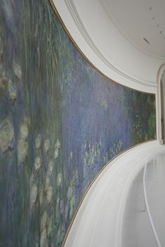 Musée de l'Orangerie - Les Nymphéas by Claude Monet by pakitt, via Flickr - The Musée de l'Orangerie is an art gallery of impressionist and post-impressionist paintings located in the west corner of the Tuileries Gardens next to the Place de la Concorde in Paris.