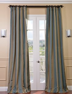 Marin Faux Silk Taffeta Stripe Curtains & Drapes | Half Price Drapes