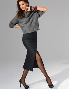 Короткий свитер (58 фото): с чем носить и как носить, как он называется, свитер короткий спереди длинный сзади, широкий