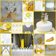 Wedding colors...Grey and yellow