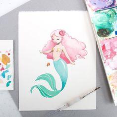Mermaid Illustration - Mermay - Sketchinc | Beautiful Cases For Girls
