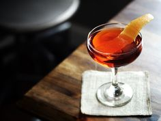 The Charming Foxhole | tequila, aperol, amaro nonino, cocchi vermouth di torino, peychaud's bitters, grapefruit twist