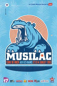 Musilac #Musilac #riffx #musique #affiche #festival #creditmutuel #Aixlesbains
