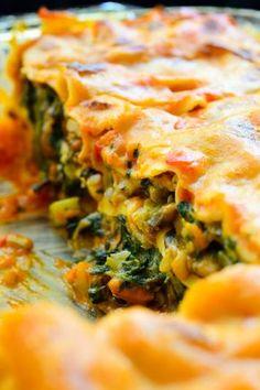 A delicious, creamy vegan lasagna with no tofu or fake cheese products! A delicious, creamy vegan lasagna with no tofu or fake cheese products! Vegan Recipes Easy, Veggie Recipes, Whole Food Recipes, Cooking Recipes, Vegan Foods, Vegan Vegetarian, Vegetarian Recipes, Vegan Lunches, Vegan Raw