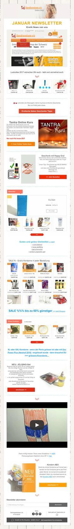 JANUAR NEWSLETTER  Erotik News von uns -  ♥ ♥ ♥ - #condom #kondom #kondomshop #kondome #condoms #noppenkondome #2017 #happynewyear #happy2017 Tantra, Switzerland, Erotica
