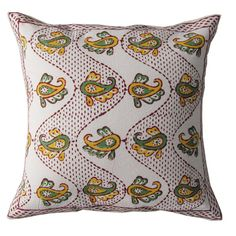 16 Stunning Indian Hand Block Print Pillow Cushion by RoyalFurnish, $9.99