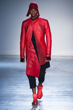 Just think about red leather for unterwear & accessories... for your ultragòlam masculine fw15 season! From Boris Bidjan Saberi collection.