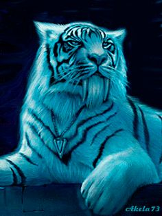 Animated Gif by Beautiful Cats, Animals Beautiful, Cute Animals, Beautiful Places, Big Cats Art, Cat Art, Art Tigre, Tiger Artwork, Tiger Images