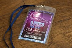 Katie's Dance Party Birthday, VIP Pass, Backstage Pass, Custom, All Access, Disco Ball, Sparkle, Purple, Pink