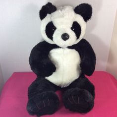 """1998 Vintage Build-a-Bear Plush Roly Poly Panda Bear 18"""" Stuffed Animal Retired #BuildaBear #AllOccasion"""