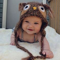 Like if you think this baby is cute. #baby #beanie #fun #owl #amazing #animal #boy #girl #tumblr #babies #woolen #crafts #babe #funny #cutiepie #cutie