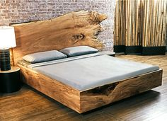 DesignLush: SPALTED MAPLE AND KNOTTY PINE PLATFORM BED