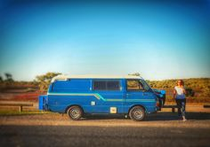 Toyota Hiace 1981 road tripping in Australia.