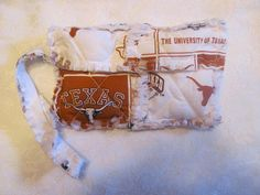 University of Texas inspired Clutch bag by morethanbearscrafts