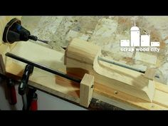 Convert your rotary tool into a DIY mini lathe for modelism - YouTube