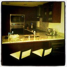Trump Tower Waikiki...kitchen comes with a built in refrigerated wine cabinet