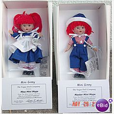 2007 Miss Mini Mops and Master Mini Mops Ginny Dolls are listed on Ebid at $78.00 fixed price.