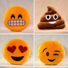 Sooo emoji pillows totally exist.