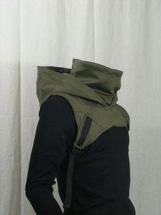 Wasteland Cowl V2 OD Green by Crisiswear on Etsy.: