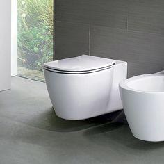 Комплект структура за вграждане с двоен бутон и конзолна тоалетна чиния със скрито присъединяване CONNECT AQUABLADE и ултра тънка тоалетна седалка, IDEAL SRANDARD W3710AA/E047901/E772301.
