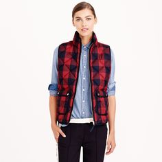 Excursion quilted vest in buffalo check : puffer | J.Crew