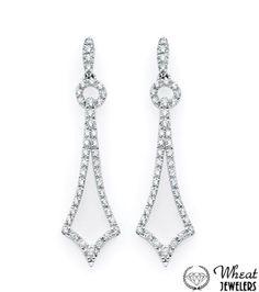 Open Diamond Encrusted Dangle Earrings