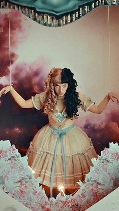 show and tell 💗 Cry Baby, Melanie Martinez Photography, Mealine Martinez, Melanie Martinez Drawings, Crybaby Melanie Martinez, Show And Tell, Crying, Poster, Queen