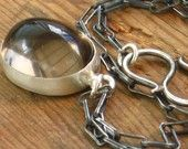 Smoky Quartz necklace with sterling silver oxidized chain and handmade silver clasp