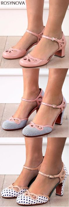 Rosynova offers a wide selection of trendy fashion style women's shoes, clothing. Affordable prices on new shoes, tops, dresses, outerwear and more. Shoe Boots, Shoes Sandals, Vintage Outfits, Vintage Fashion, Fashion Heels, Dream Shoes, Hot Shoes, Wedding Shoes, Me Too Shoes