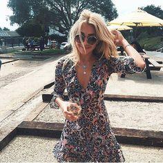 Rosè all day ✨ The Gracie mini dress #pleaseandthankyou #saturdaze #forloveandlemons #enf