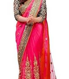 Buy Multi Color embroidered fancy georgette saree with blouse georgette-saree online