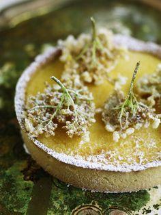 lemon, gooseberry and elderflower tart – even the words taste good.
