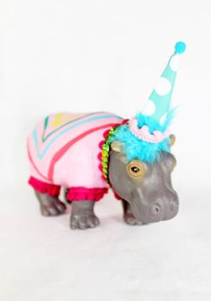 Jumbo Party Animal Sandra the Hippo painted by PaintedParade