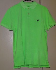 af40745820f American Eagle Outfitters Mens Size M NWT Green Golf Polo Short Sleeve Shirt  New #AmericanEagleOutfitters