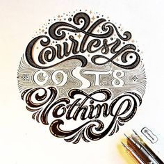 #courtesy costs #nothing witty stuff from @onevu #handmadefont