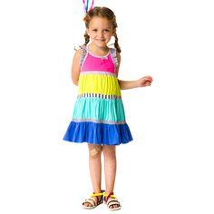 Izzy And Ash - deux par deux girls multi jersey la vie comme une plume dress