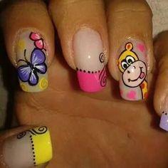 imagenes de maniquiur - Buscar con Google Fancy Nails, Love Nails, Pretty Nails, Cute Nail Art, Beautiful Nail Art, Nail Polish Designs, Nail Art Designs, Finger, Nails 2017