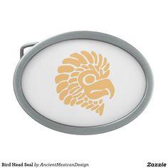Bird Head Seal Oval Belt Buckle