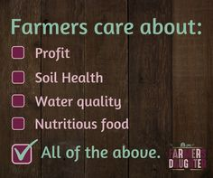 Yes, farmers care ab