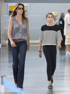 Daughter Kaia is the spitting image of her model mother Cindy Crawford #dailymail