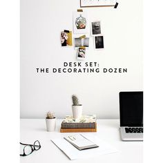 desk set the decorating dozen. ❤ liked on Polyvore featuring decor, natural and backgrounds