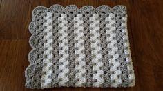 gender neutral baby blanket, gray nursery, grey crochet blanket, afghan, crocheted blanket, crocheted afghan, gray & white, fast shipping