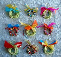 The little girls at school would love crocheting this simple chain wreath.