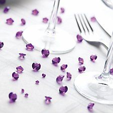 Purple Table Cyrstals