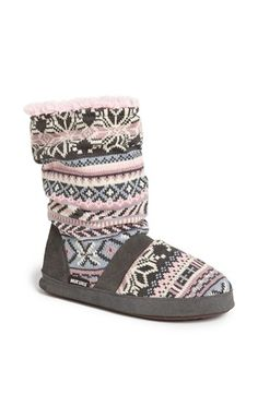 MUK LUKS 'Jenna' Slipper | Nordstrom $29.95 Size small, color pink/grey (currently sold out on Nordstrom.com, maybe can find elsewhere?)