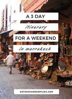 Weekend in Marrakech | Things to do in Marrakesh | Marrakech Itinerary | Marrakech Guide | Visit Morocco #marrakech #marrakesh