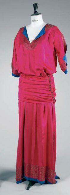 1911 red dress by Paul Poiret.